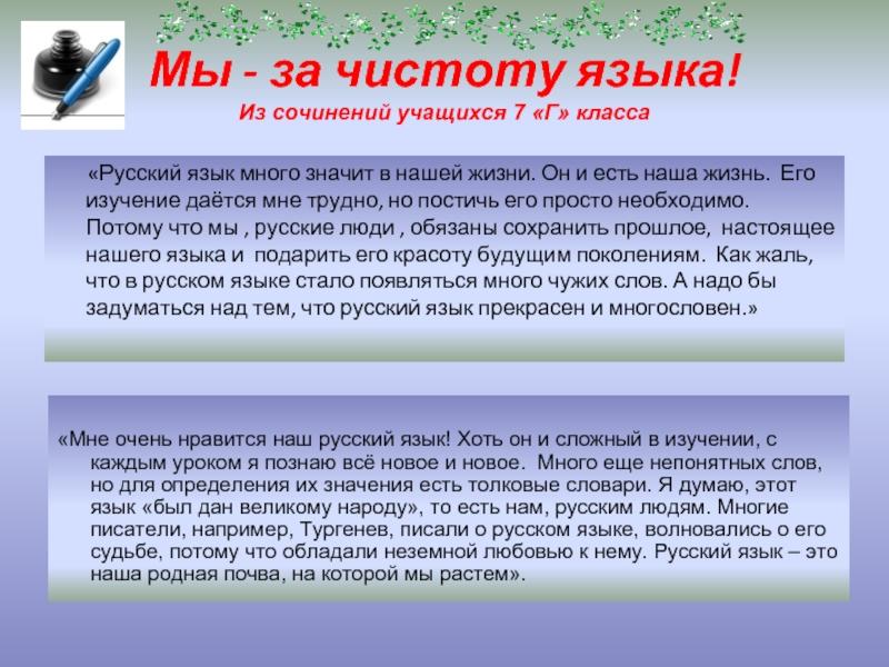 Эссе за чистоту русского языка 719