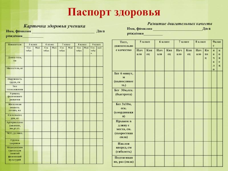 Паспорт здоровья картинка