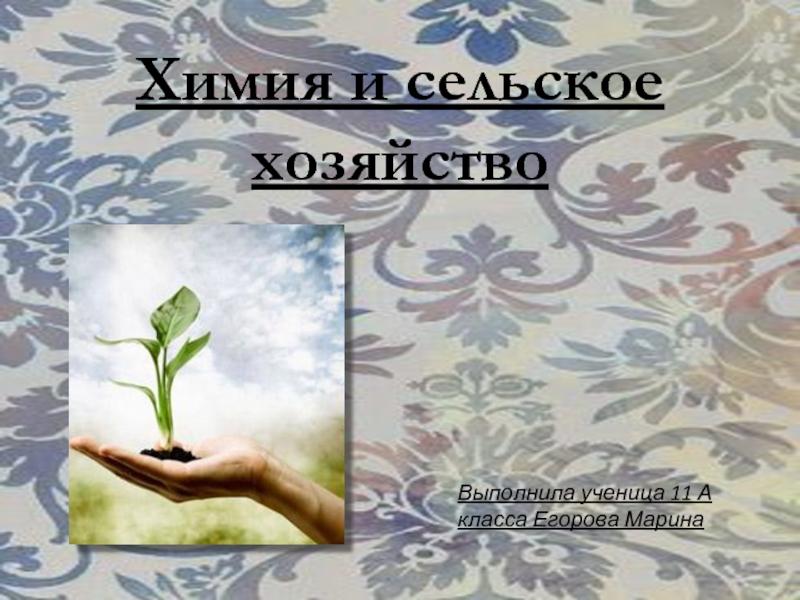 Доклад химия в сельском хозяйстве 3632