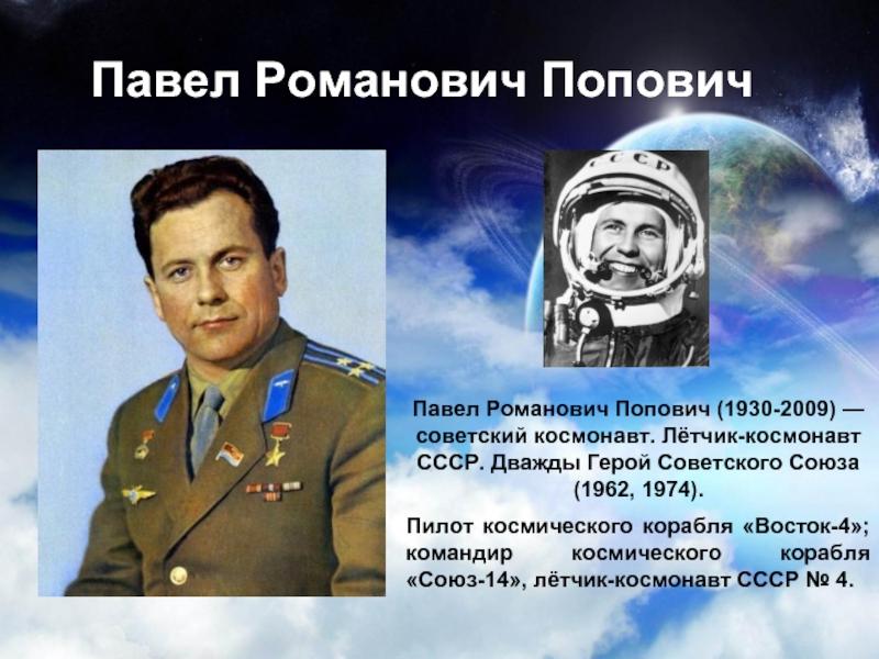 космонавты россии и ссср процесс создания