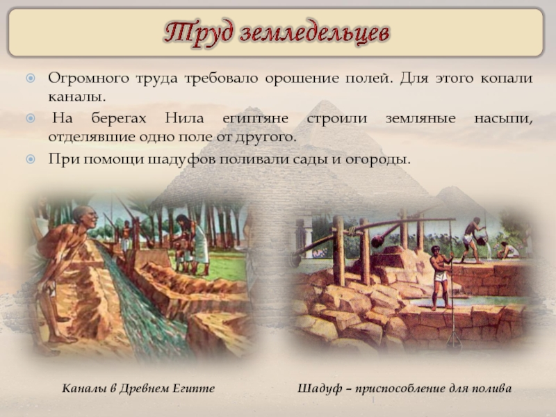 Картинки труд земледельцев древнего египта на берегах нила