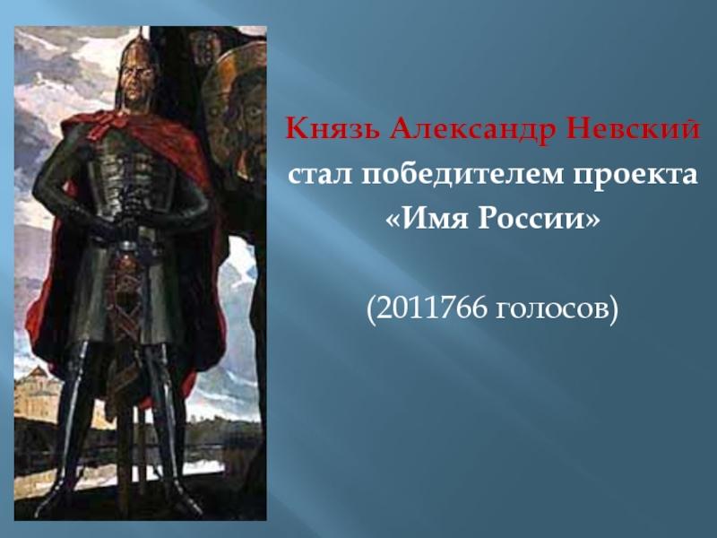 что, имя россии александр невский имеет