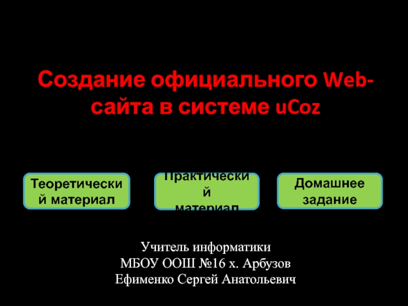 Скачать презентацию создание официальных сайтов этапы для создания сайта