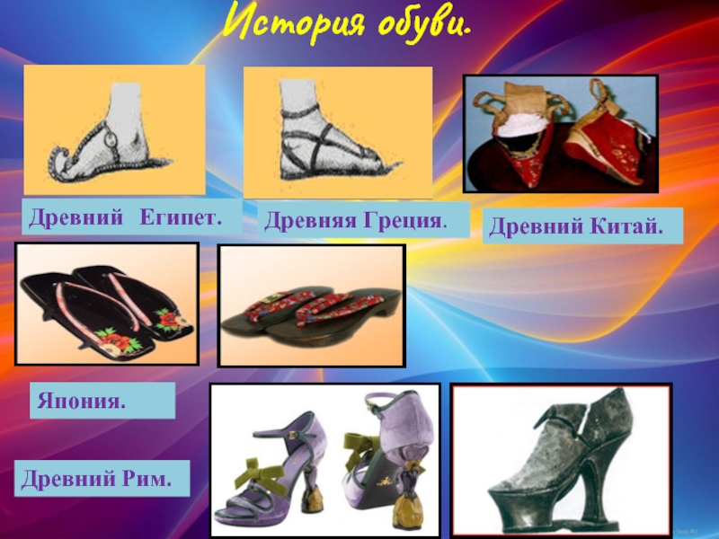 история развития обуви в картинках здесь