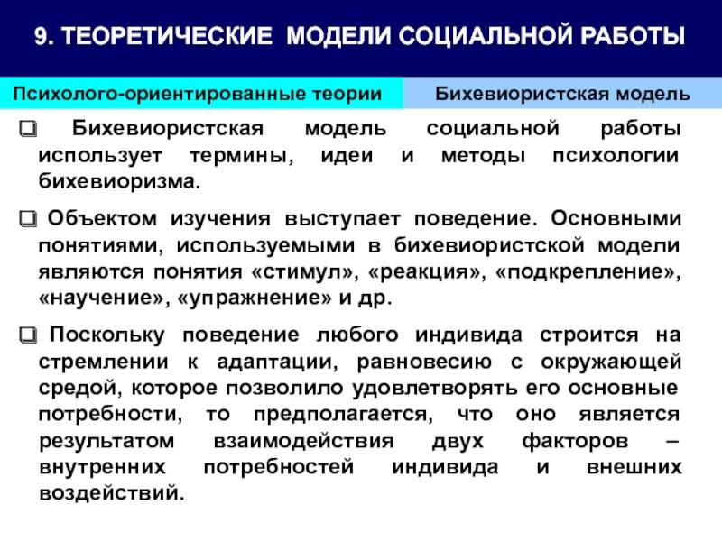 Модели психолого ориентированной социальной работы модельное агенство ангарск