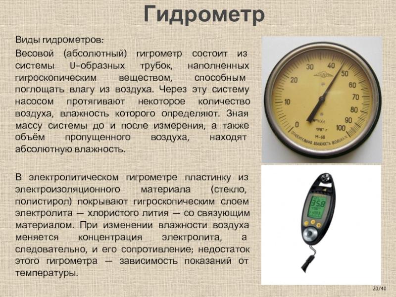 виды гигрометров картинки часе езды москвы